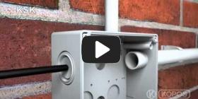 Embedded thumbnail for Upute za instalaciju zaštite za elektroinstalacijsku kutiju KSK IP 66